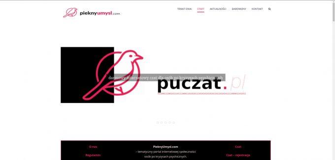 wygląd strony głównej wortalu pieknyumysl.com